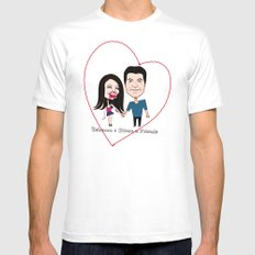 Rebecca Black and Simon Cowell are Friends Mens Fitted Tee White MEDIUM