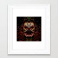 demon Framed Art Prints featuring Demon by Zandonai