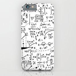Hand Written Math Equation iPhone Case