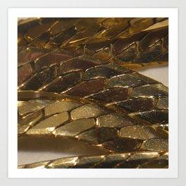 gold? chain Art Print