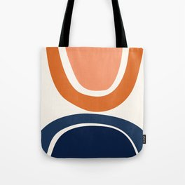 Abstract Shapes 7 in Burnt Orange and Navy Blue Tote Bag