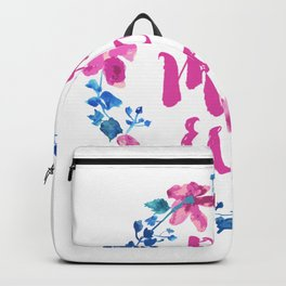 Best mom ever, watercolor floral wreath with modern typography Backpack