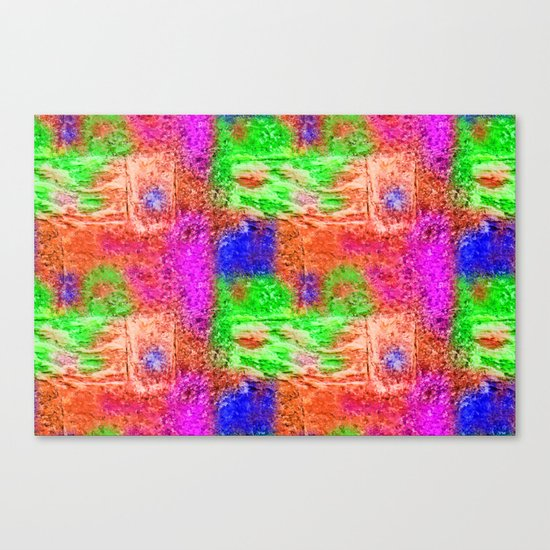 Colourful Abstract Texture Canvas Print