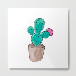 Little Cactus Metal Print