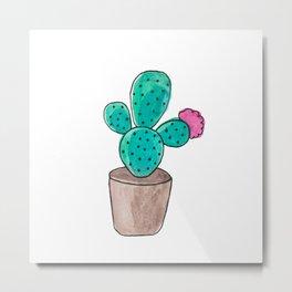 Little Cactus Metal Print