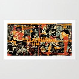 Simulacrum orange Art Print