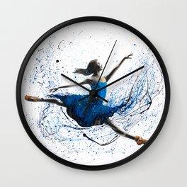 Blue Season Ballerina Wall Clock