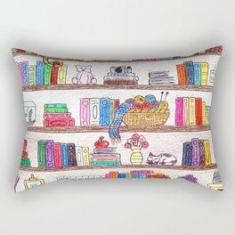 Colored booshelf! Rectangular Pillow
