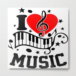 Love Music Metal Print