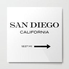 San Diego Metal Print