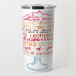 Traditional English Trifle Travel Mug
