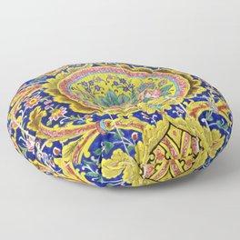 Floral Persian Tile Floor Pillow
