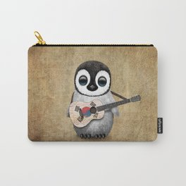 Baby Penguin Playing South Korean Flag Guitar Carry-All Pouch