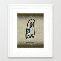 hokusai Framed Art Prints featuring Hokusai Phantom by Cozmicflight