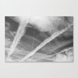 Vapour Trails Over England Canvas Print