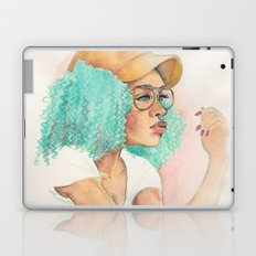 Minty Curls Don't Care Laptop & iPad Skin