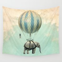 ballon Wall Tapestries featuring Jumbo by Vin Zzep