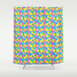 Pastel Rainbow Round Candy – Ball Pit Shower Curtain