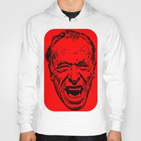 literature Hoodies featuring Outlaws of Literature (Charles Bukowski) by Silvio Ledbetter