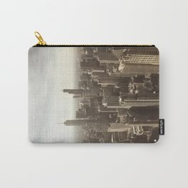 Chicago Buildings Sears Tower Sky Sun Color Photo Carry-All Pouch