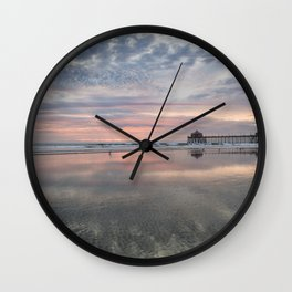 HB SUNSET 1-3-18 Wall Clock