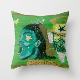 In Go/d We Trust Throw Pillow