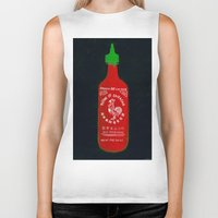 sriracha Biker Tanks featuring Sriracha (2012) by Branden Vondrak