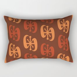 Starburst Bell Peppers Orange Rectangular Pillow
