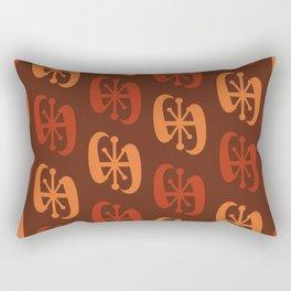 Starburst Bell Peppers Orange Rectangular Pillow