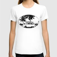 volkswagon T-shirts featuring Vintage Beach Van  by kishbish