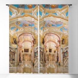 The Magnificent Admont Abbey Library of Admont, Austria Photograph Blackout Curtain