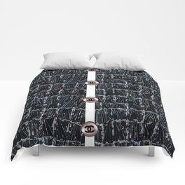 coco fashion week style Comforters