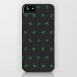 Malachite Polka Dots in Graphite iPhone Case