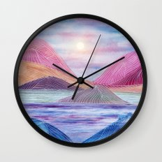 Lines in the mountains XVII Wall Clock