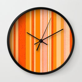 Stripes in colors Wall Clock