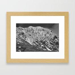 Fresh Snow in Portage Valley, Alaska - B & W Framed Art Print