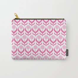 Modern Pink Dandelions Floral Flower Pattern Carry-All Pouch