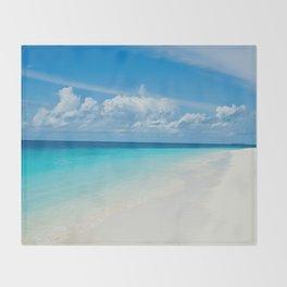 The Maldives' Blue Throw Blanket
