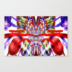Color and lines in space Canvas Print