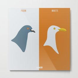 Pigeon VS Mouette (Paris VS Marseille) Metal Print