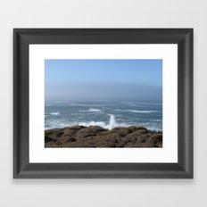 Splashing Up Framed Art Print