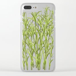 Sugar Cane Exotic Plant Pattern Clear iPhone Case