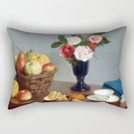 Henri Fantin-Latour Still Life Rectangular Pillow
