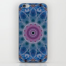 Mandala in light blue and pink colors iPhone Skin