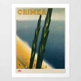 Vintage poster - Crimea Art Print