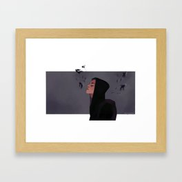 Where is my mind ? Framed Art Print