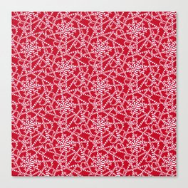 Candy cane flower pattern 2a Canvas Print