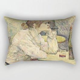 Henri De Toulouse Lautrec - The Hangover Rectangular Pillow