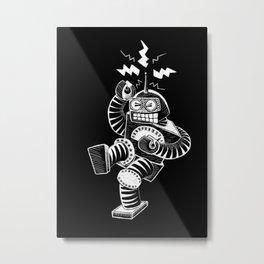 ELECTRIC! (Air-Guitaring Robot) Metal Print