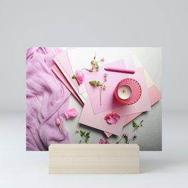 Pink Poem Mini Art Print